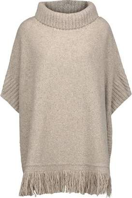 Joie Hatice Fringed Wool-Blend Donegal Turtleneck Sweater