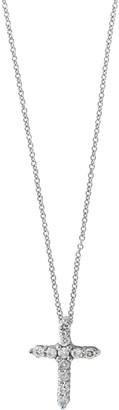 Effy Super Buy White Gold and Damonds Cross Pendant Necklace