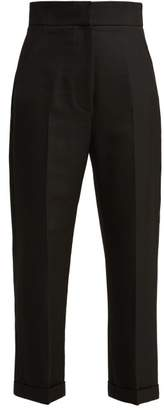 Carino High Rise Woven Trousers - Womens - Black