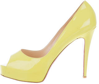 Christian Louboutin Christian Louboutin Patent Leather Very Prive Pumps