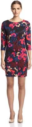 Donna Morgan Women's Dolman Scuba Dress