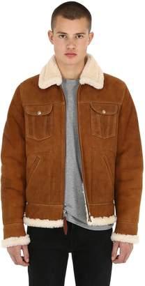 Schott Double Faced Western Shearling Jacket