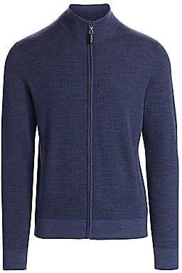 Saks Fifth Avenue Knit Wool-Blend Zipper Sweater