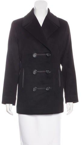CelineCéline Leather-Trimmed Wool Jacket