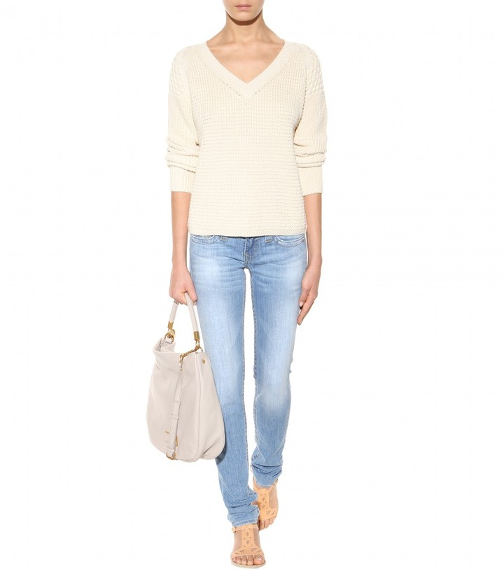 Closed Textured-knit cotton sweater