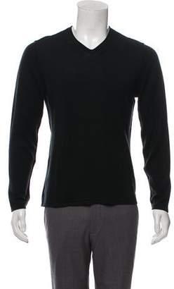 John Varvatos Wool-Blend V-Neck Sweater