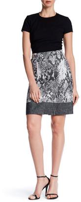 BOSS HUGO BOSS Print Zip Skirt $385 thestylecure.com