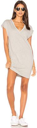 Nation LTD Steffi Deep V Pocket Dress in Gray $110 thestylecure.com
