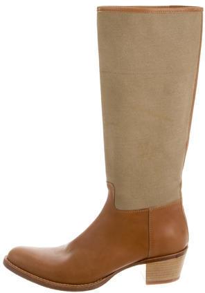 Miu MiuMiu Miu Leather Mid-Calf Boots