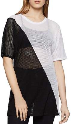 BCBGeneration Color-Block Mesh Tunic