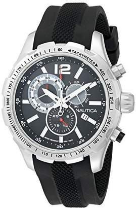 Nautica Men's NAD15512G NST 30 Analog Display Quartz Black Watch by