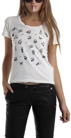 Sophomore Astrology T-Shirt in Ivory