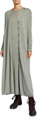 Agnona Cashmere Ankle-Length Duster