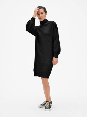 Gap Cozy Blouson Sleeve Turtleneck Sweater Dress