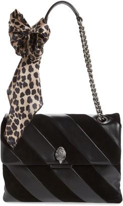 Kurt Geiger London Large Soho Leather & Suede Shoulder Bag