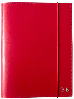 A5 Red Leather Journal Font