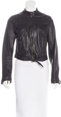 Whistles Leather Biker Jacket $225 thestylecure.com