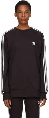 Baja East Black Logo Stripe Sweatshirt