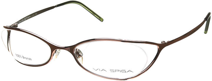 Leaf Shadow Tapered Oval Eyeglasses