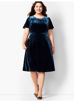 Talbots Velvet Fit & Flare Dress