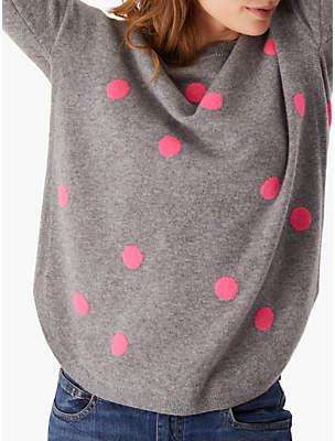 Cashmere Jumper, Pink/Grey