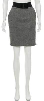 Iceberg Wool Pencil Skirt