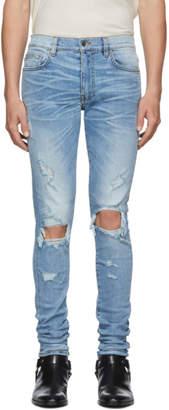 Amiri Blue Thrasher Jeans