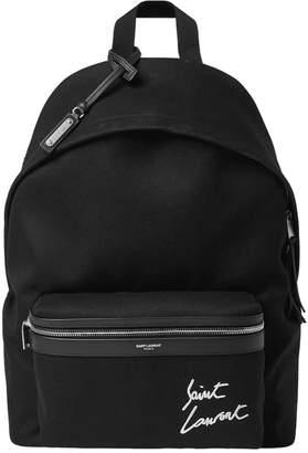 Saint Laurent Neon Signature Logo Backpack