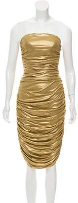 Michael Kors Ruched Strapless Dress