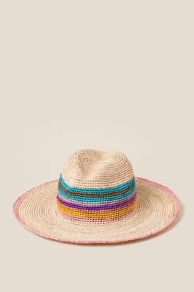 ed9d5aabf34 francesca s Florence Raffia Striped Hat - Multi