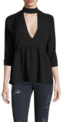 Neck Band Peplum Blouse $62 thestylecure.com