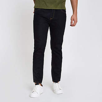 River Island Dark blue rinse Jimmy tapered jeans