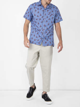 Lanvin Short sleeve lobster print shirt