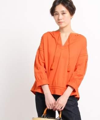 Dessin (デッサン) - 【50%OFF】デッサンインド刺繍ブラウスレディースオレンジ(067)02(M)【Dessin】【セール開催中】