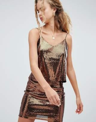 Weekday sequin cami top in copper