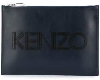 Kenzo front logo clutch bag
