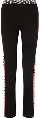 Missoni Intarsia Wool-blend Straight-leg Pants - Black