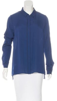 Elie Tahari Silk Button-Up Top $75 thestylecure.com