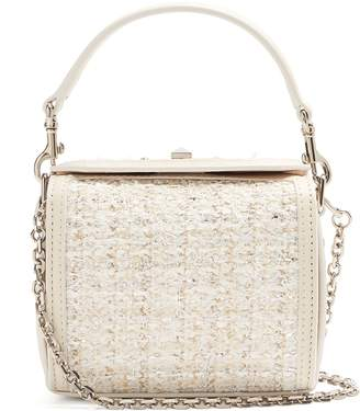 Alexander McQueen Box nano bouclé and leather bag