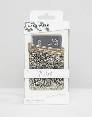 Case-mate Case-Mate phone pocket in champagne glitter