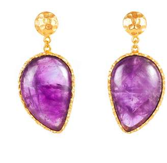 Christina Greene - Moon Earrings in Amethyst