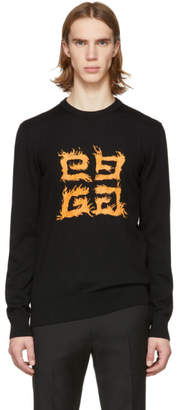 Givenchy Black Brushed 4G Sweater