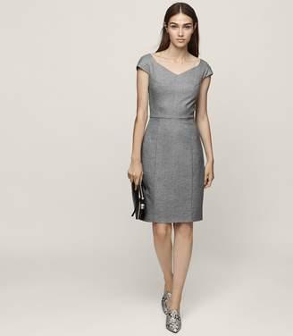 Reiss Hampstead Dress Wide-Neck Tailored Dress