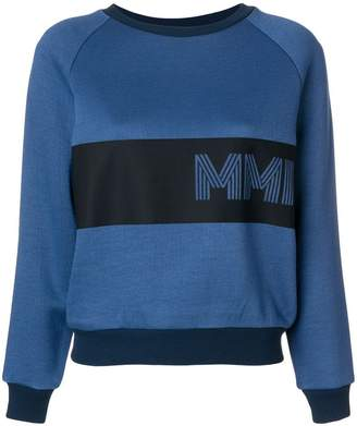 Mr & Mrs Italy embroidered colour-block sweatshirt