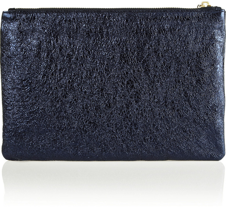 Anya Hindmarch Bauble textured-leather clutch