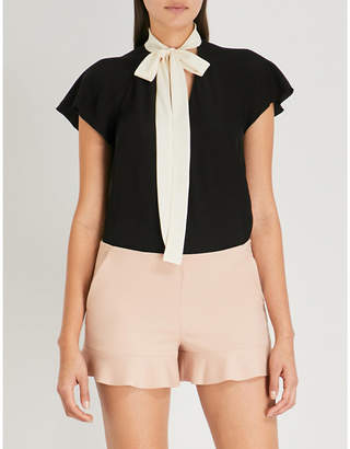 RED Valentino Bow-detail silk top