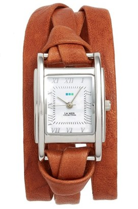 Women's La Mer Collections 'Milwood' Leather Wrap Watch, 35Mm $84 thestylecure.com