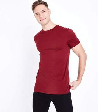 New Look Rust Short Sleeve Muscle Fit T-Shirt