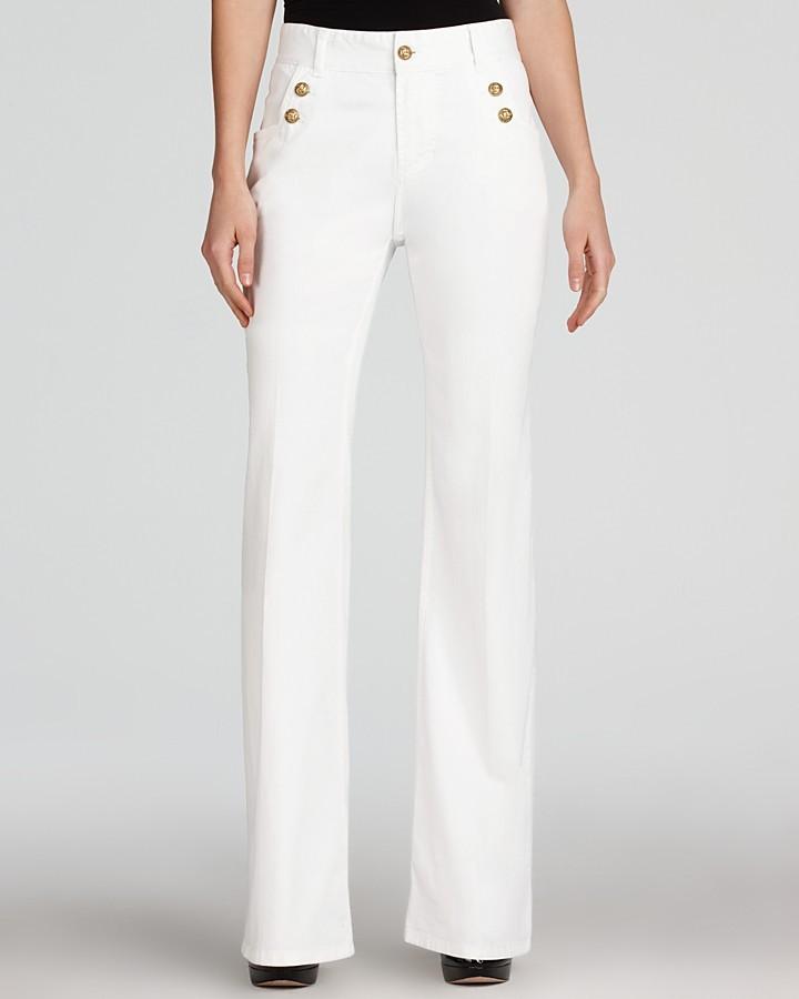 Gerard Darel Wide Leg White Jeans