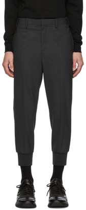 Neil Barrett Grey Rib Cuff Slim Trousers